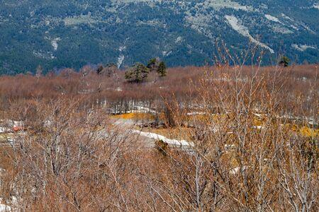 View from Vasilitsa ski center big ski resort in Vasilitsa, Greece.