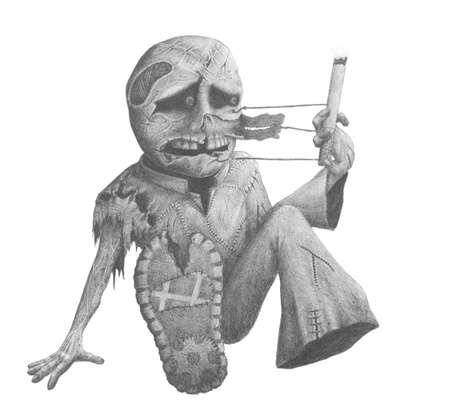 image of the terrible creature with a cigarette in his hand