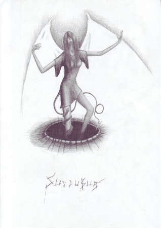 image of a winged devil woman succubus Stock Photo - 13111152
