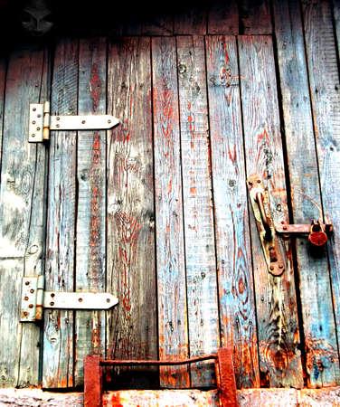 gloomy old attic door Stock Photo - 14197577