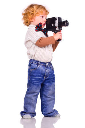 jazzbow: The little boy with an old videocamera in hands