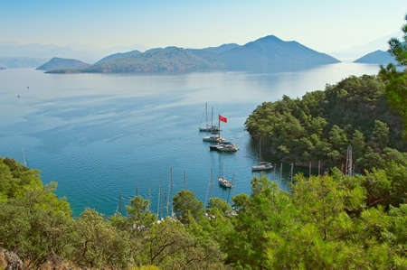 vertices: Bay Sarsala in Turkey. View from the birds-eye view Stock Photo