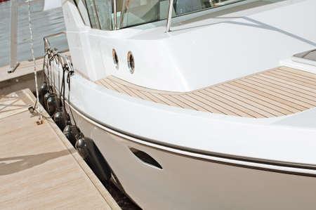 motor boats: fragment motor boats at dock
