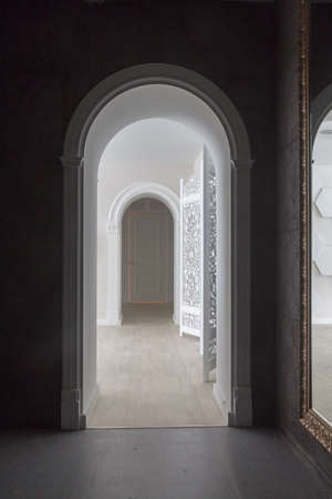 lighting column: bright and spacious room with high antique arches