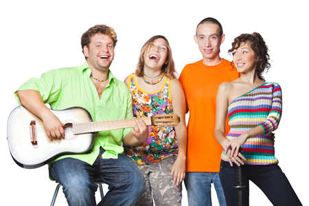 actor: Group portrait of the actor enjoy play