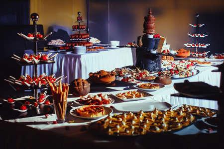 veiw: Veiw of coloured cookies desserts close-up