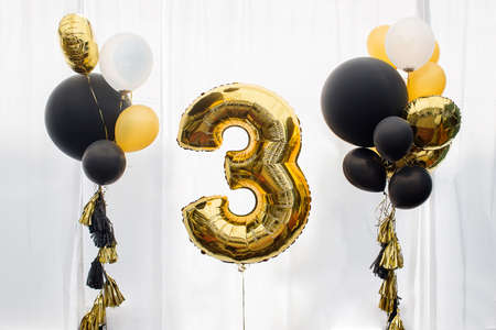 Decoration for 3 years birthday