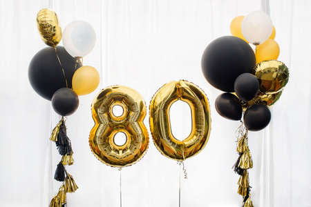 Decoration for 80 years birthday, anniversary Stock Photo