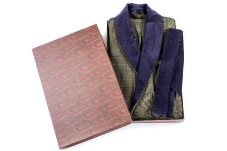 Male gift boxed gown isolate Packed bathrobe