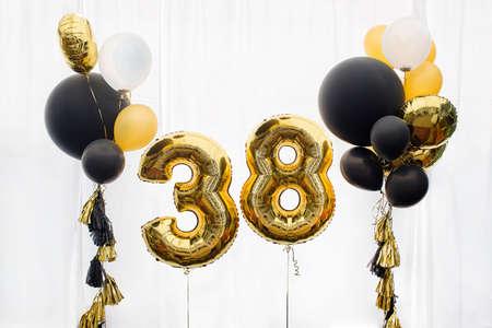 Decoration for 38 years birthday, anniversary Stock Photo