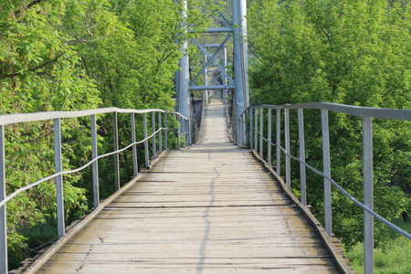 pedestrian bridge: Pedestrian bridge across the river