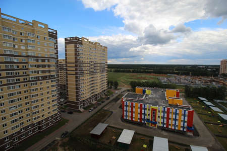developed: the construction of modern apartment buildings with developed infrastructure