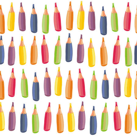 rows of crayons