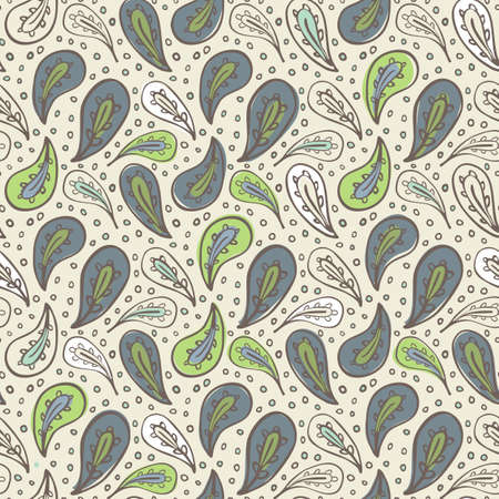 paisley pattern on beige Vector