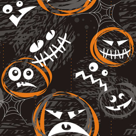 scary faces Vector