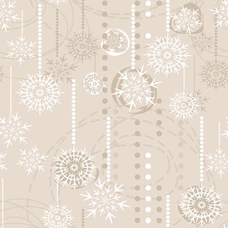 snowflakes on beige background Stock Vector - 15120635
