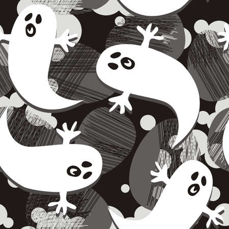 scared ghosts Illustration