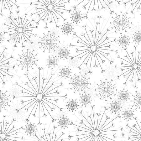 dandelions on white