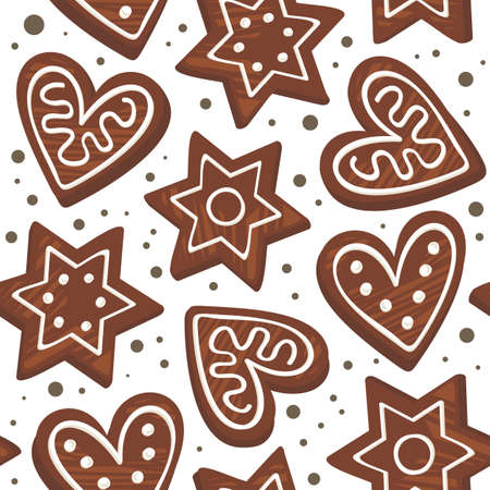 gingerbreads on dots Vector
