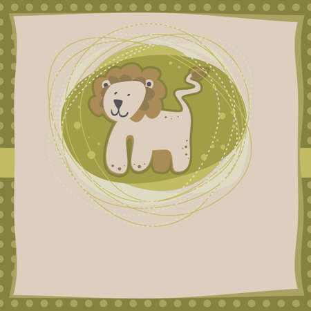 little lion on green Vector
