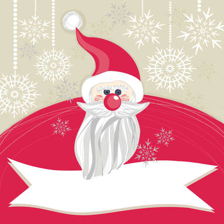 santa claus with snowflakes  Vector