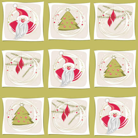 christmas pattern red and green  Vector