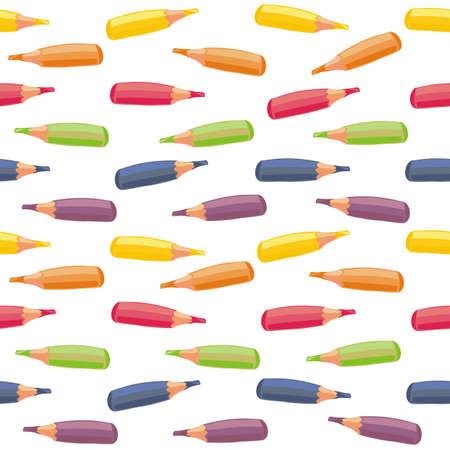 rainbow crayons Stock Vector - 15375528