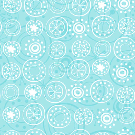 rows of snowflakes on turquoise