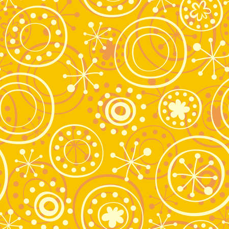 snowflakes on sunny yellow  Stock Vector - 15403492