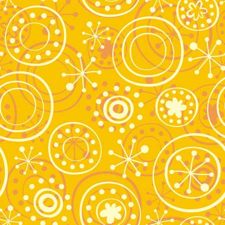 snowflakes on sunny yellow