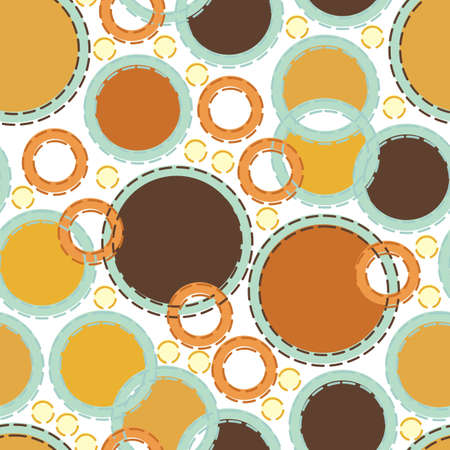 colorful retro circles on white Vector