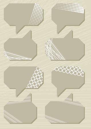 patterned bubbles set Vector