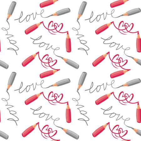 ni�os con l�pices: amor y corazones rojos l�pices grises