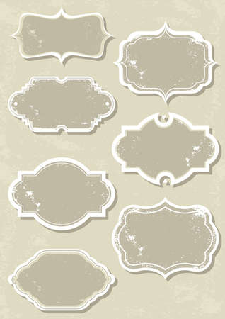 vintage monochrome label set  Stock Vector - 15974344