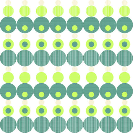 green and turquoise seamless geometric pattern with rows of circles Stock Vector - 16212998