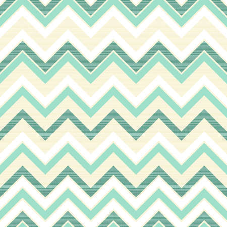 turquoise chevron on light beige retro seamless pattern  Vector