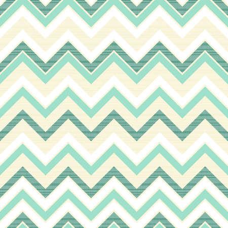 turquoise chevron on light beige retro seamless pattern
