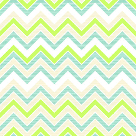 seamless retro geometric chevron pattern in green white beige and turquoise  Illustration