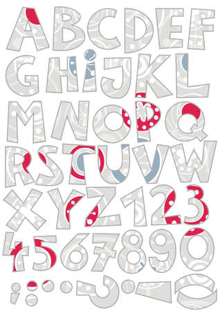 c r t: snowfalkes on gray abc colorful retro alphabet