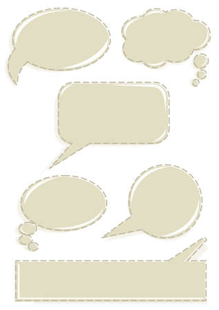 monochrome speech bubbles set with border on white background Stock Vector - 16454281