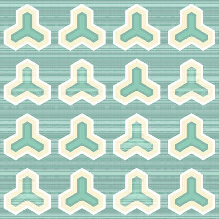 geometric regular elements on light turquoise retro seamless pattern  Stock Vector - 16803926