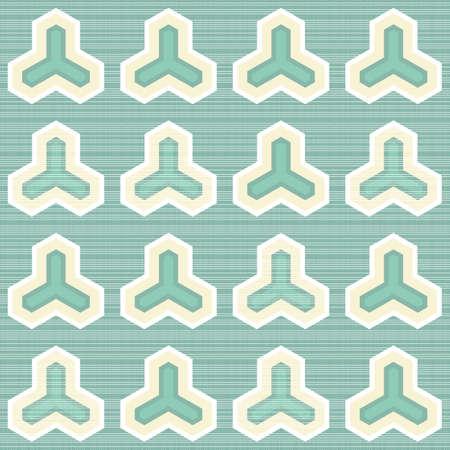 geometric regular elements on light turquoise retro seamless pattern Stock Vector - 16803926