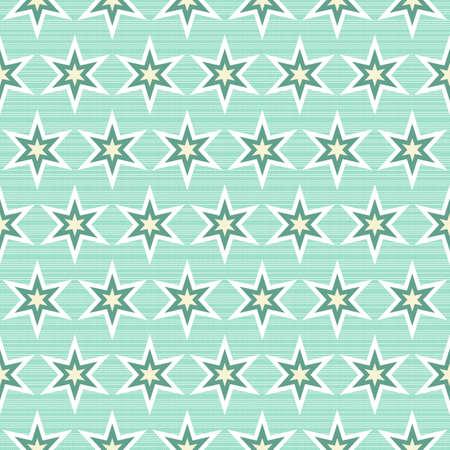 アクアマリン: 背景色が水色のシームレスなパターンの行で多色の星