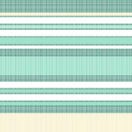 light beige and turquoise stripes on turquoise retro seamless pattern Vector