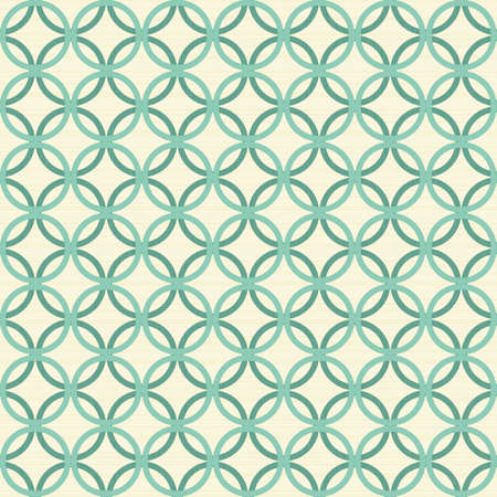 turquoise circles in rows on light beige background retro seamless pattern  Stock Vector - 16803911