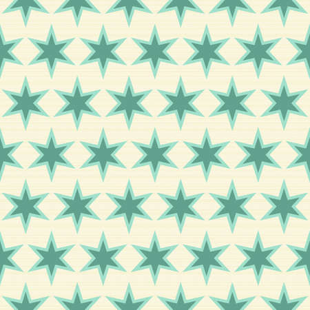 turquoise stars in rows on light beige background seamless pattern Stock Vector - 16803927