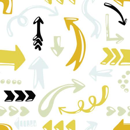 repeatable texture: colorido estilo de dibujos animados flecha sin patr�n en el fondo blanco Vectores