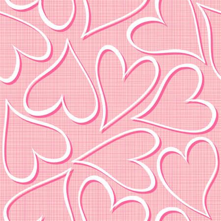 corazones blancos y rosa seamless valentines fondo