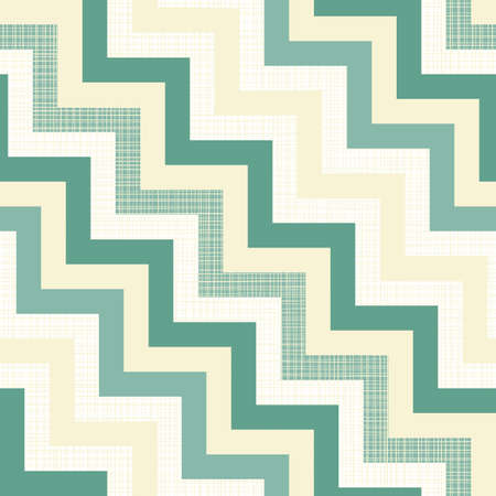 turquoise white beige chevron on light retro seamless pattern  Vector