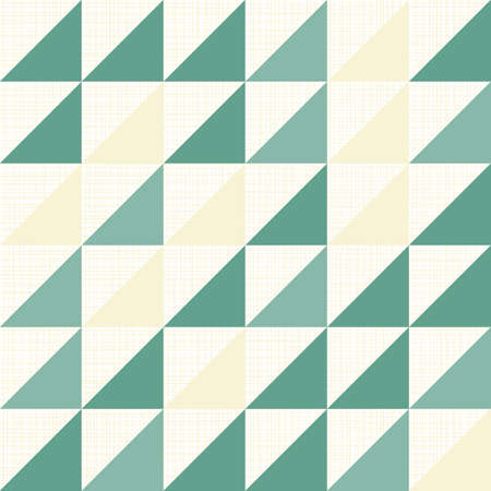 turquoise white beige triangles on light retro seamless pattern  Vector